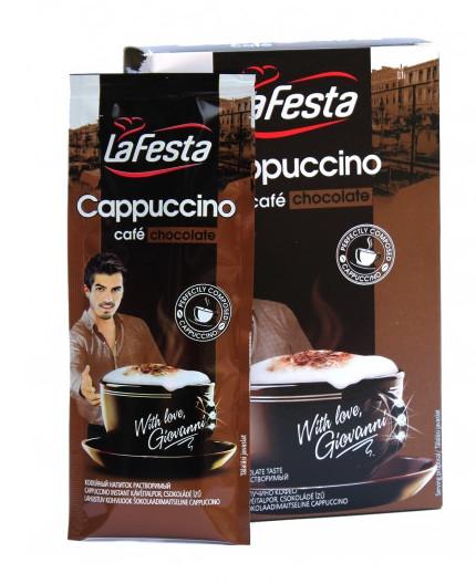 Капучино La Festa со вкусом шоколада 10*12,5 г