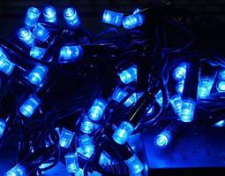 Xmas Нить 400 LED СИНИЙ (черный провод,23 метра)