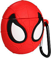 Чехол для AirPods Spiderman Red 3D, силиконовый