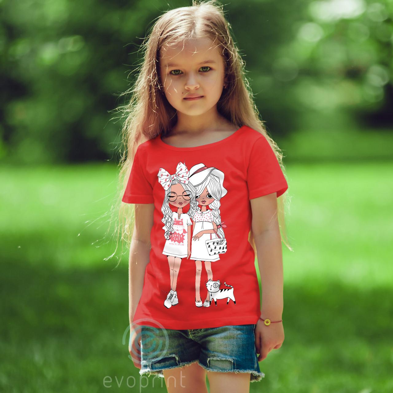 Нанесение принтов на детские футболки