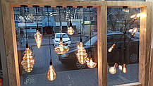 Светодиодная винтажная лампа Filament 4w E27 Rustic Globe-4 Horoz Electric, фото 3