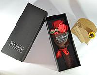 Подарочный букет красных роз ручной работы из мыла