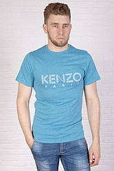 Мужская футболка бирюзовая Kenzo