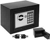 Сейф електронний 23х17,5х17 см. электронный замок для дома, офиса и гостиницы S8799