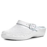 Теллус Яна женские сабо белые, медицинская обувь, поварская, медичне взуття