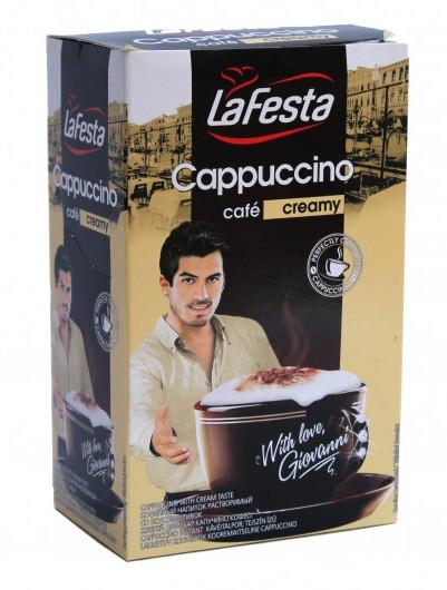 Капучино La Festa со вкусом сливок 10*12,5 г