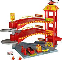 Игровой набор Dickie Toys Спасательная станция с 2 машинами Красный (3718000_2)