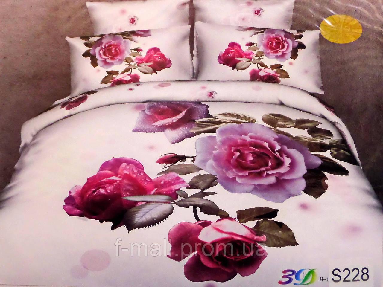 Комплект постельного белья ELWAY (Польша) 3D LUX Сатин Евро Подарочная упаковка (228)
