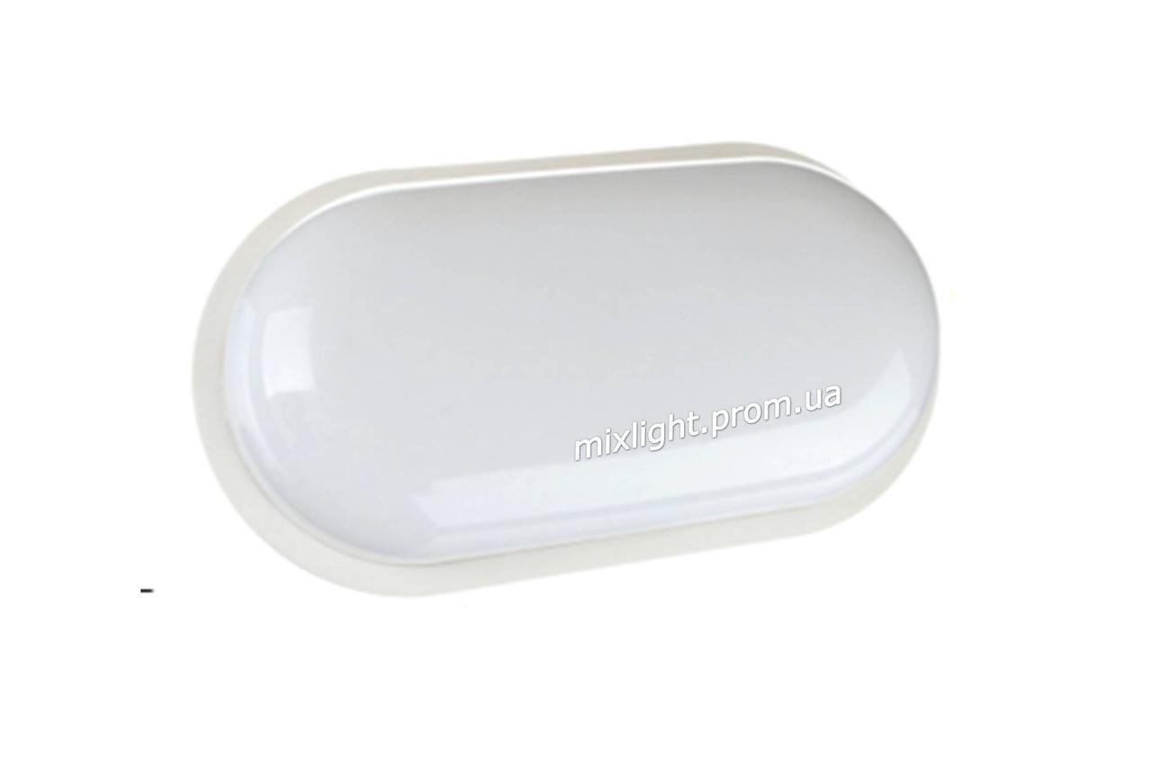 Пластиковый Led светильник ЖКХ накладной овал 20w 6000K AVT-118/1