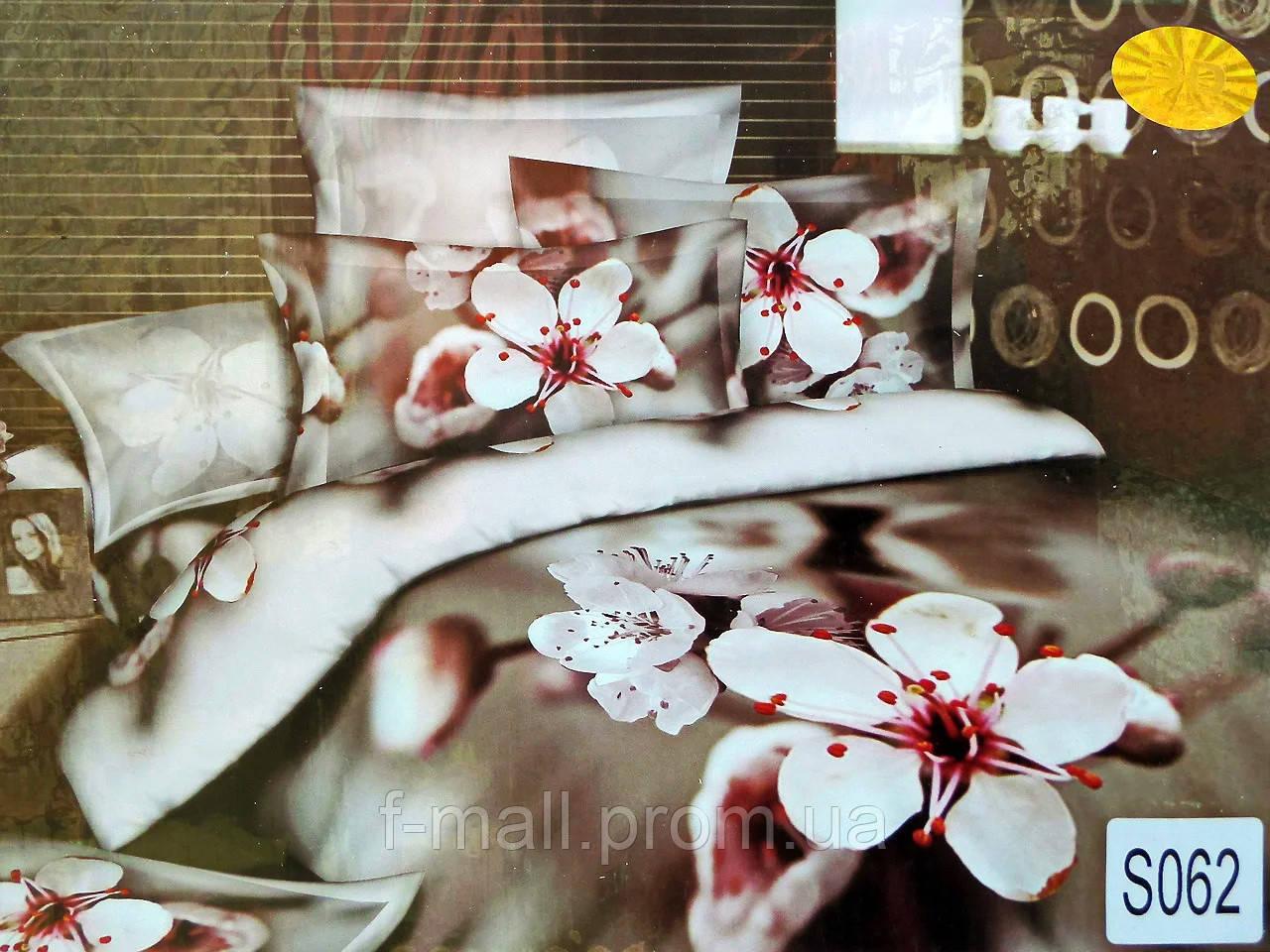 Комплект постельного белья ELWAY (Польша) 3D LUX Сатин Евро Подарочная упаковка (062)