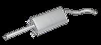 Глушитель алюминизированный на Sens, Lanos (Сенс, Ланос | Евро-2, 1:1 под хамут)