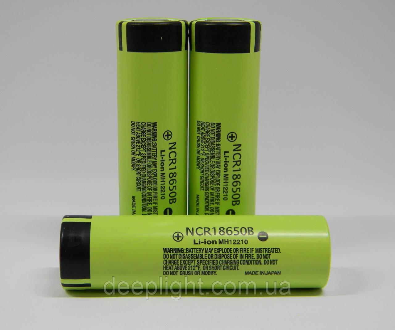 Акумулятори Panasonic (liitokala) 18650 3400 mAh без плати захисту