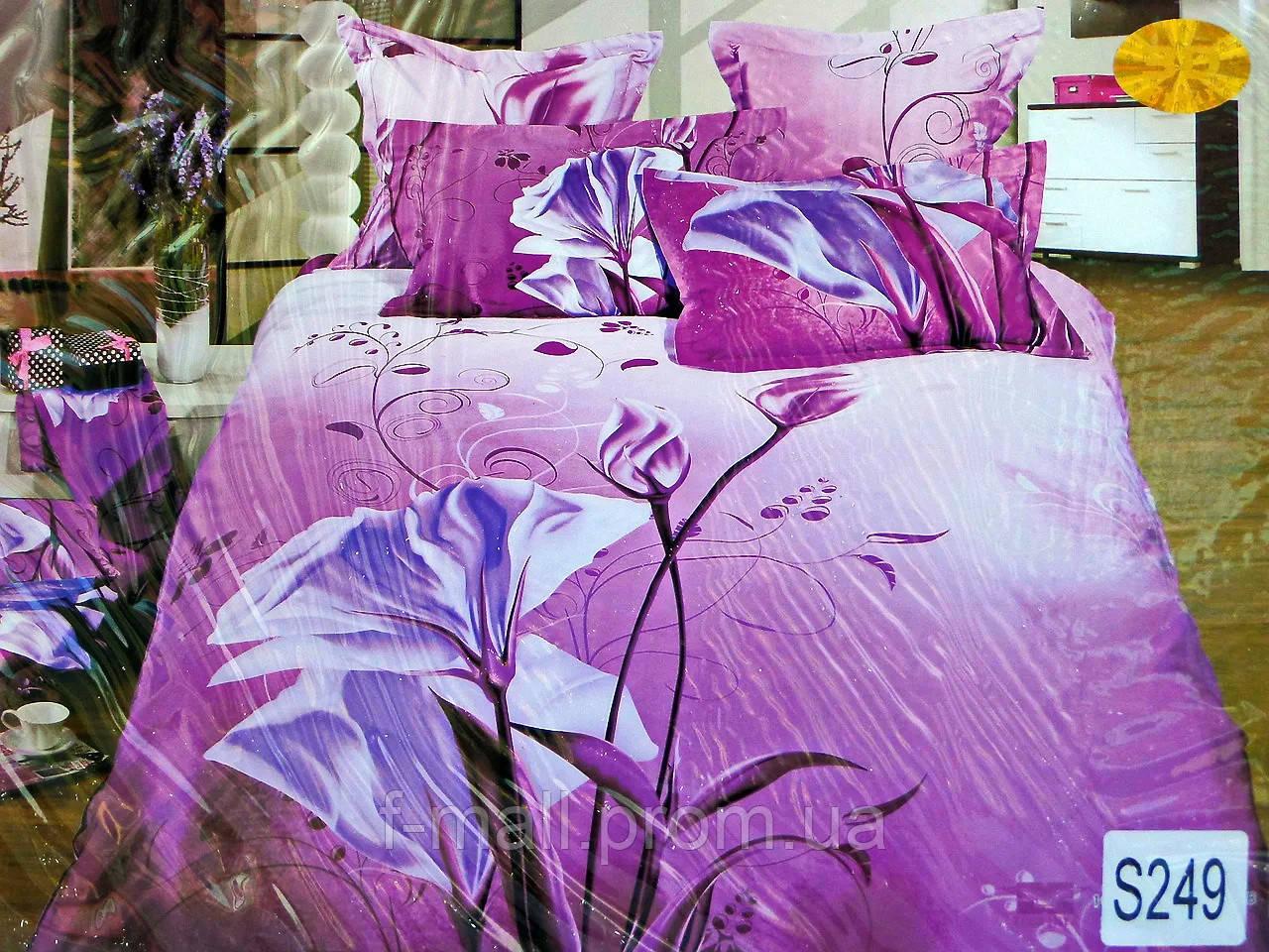 Комплект постельного белья ELWAY (Польша) 3D LUX Сатин Евро Подарочная упаковка (249)