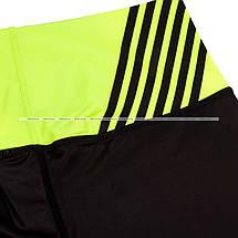 Женские капри Venum Power Leggings Crops Black Yellow, фото 3