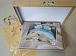 Комплект постільної білизни ELWAY (Польща) 3D LUX Сатин Євро Подарункова упаковка (221), фото 2