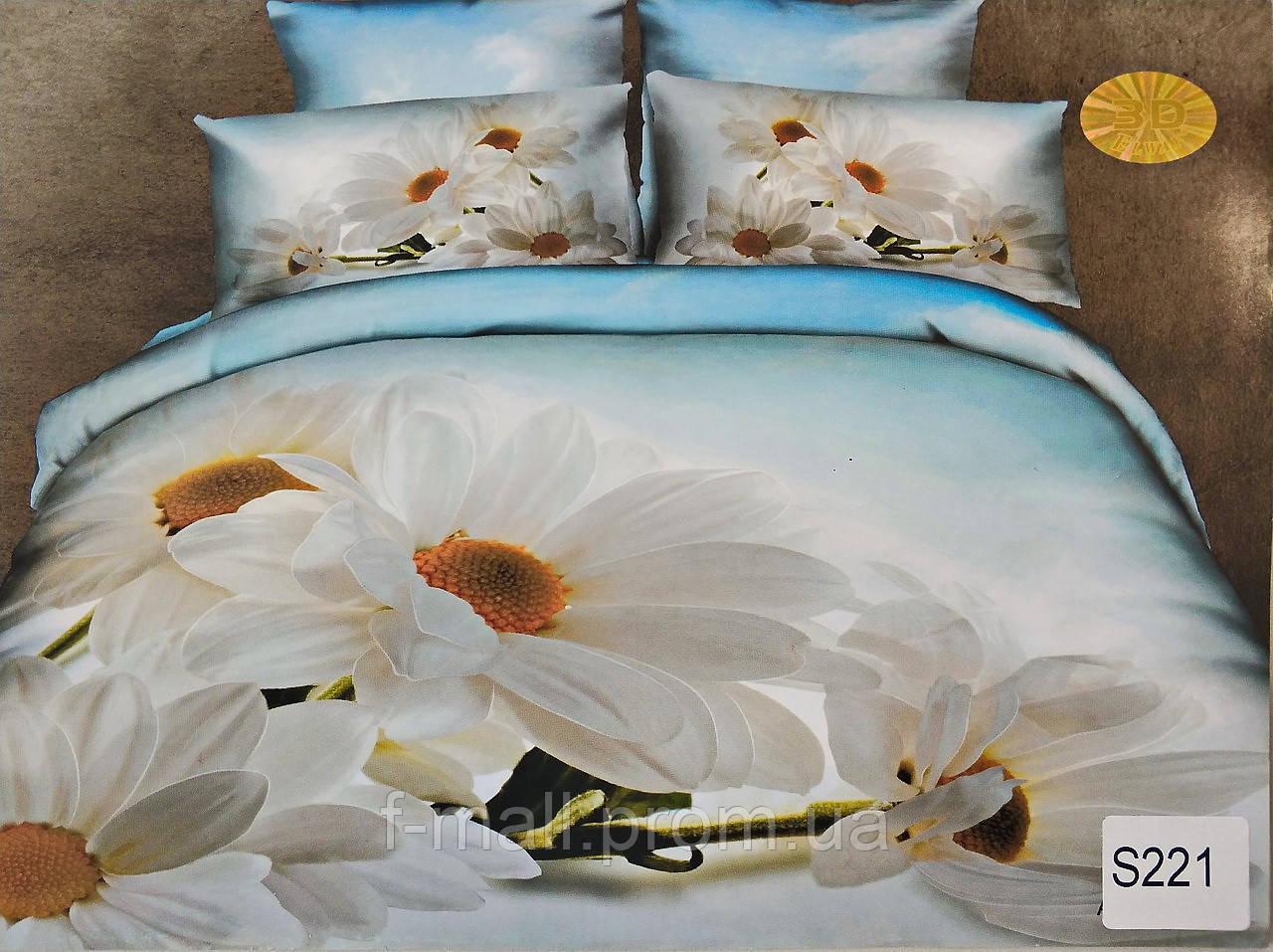 Комплект постельного белья ELWAY (Польша) 3D LUX Сатин Евро Подарочная упаковка (221)