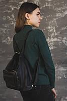Кожаный рюкзак-трансформер Камелия М241 black, фото 1