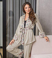 Женская шелковая пижама. Одежда для дома. Женская одежда