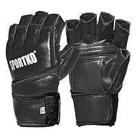 Перчатки для единоборств и MMA с открытыми пальцами SPORTKO Кожа