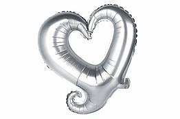 Шар фольгированный Сердце 35х35 см