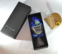Подарочный букет синих роз ручной работы из мыла