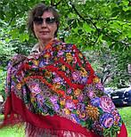 Цветочные бусы 1797-5, павлопосадский платок шерстяной  с шелковой бахромой, фото 4