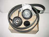 Комплект ремень генератора + 2 ролика на Рено Трафик 06-> 2.0dCi (с конд.) — Renault (Оригинал) 7701476645