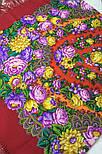 Цветочные бусы 1797-5, павлопосадский платок шерстяной  с шелковой бахромой, фото 5