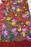 Цветочные бусы 1797-5, павлопосадский платок шерстяной  с шелковой бахромой, фото 7