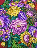 Цветочные бусы 1797-5, павлопосадский платок шерстяной  с шелковой бахромой, фото 6