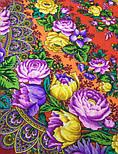 Цветочные бусы 1797-5, павлопосадский платок шерстяной  с шелковой бахромой, фото 8