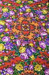 Цветочные бусы 1797-5, павлопосадский платок шерстяной  с шелковой бахромой, фото 9