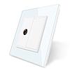 ТВ розетка Livolo білий скло (VL-C791V-11)