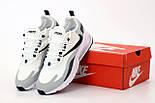 Мужские кроссовки Nike Air Max 270 React белые. Живое фото. Топ реплика, фото 4