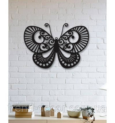 Декоративное металлическое панно Бабочка .