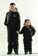 Зимний черный костюм-комбинезон для ребенка, фото 1