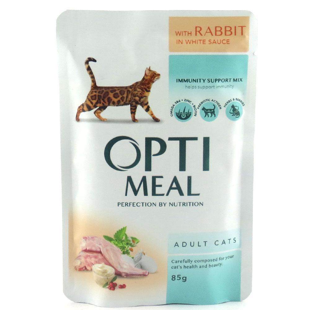 Влажный корм для кошек Optimeal с телятиной в клюквенном соусе блок 85 г*12 шт.
