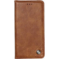 Чехол-книжка Galeo Leather Wallet для Xiaomi Redmi Note 8 Brown