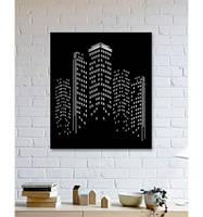 Декоративное металлическое панно с дизайном небоскреба ., фото 1