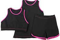 Набор для гимнастики и танцев. Майка,топ и шорты.