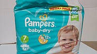 Pampers active baby-dry  7, 72шт.