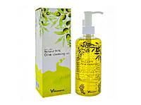 Гидрофильное масло, Natural 90% Olive Cleansing Oil, Elizavecca, увлажняющее с экстрактом оливы, 300 мл.