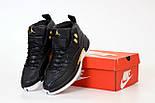 Чоловічі кросівки Nike Air Jordan Retro 12 black white yellow. Живе фото (Репліка ААА+), фото 5