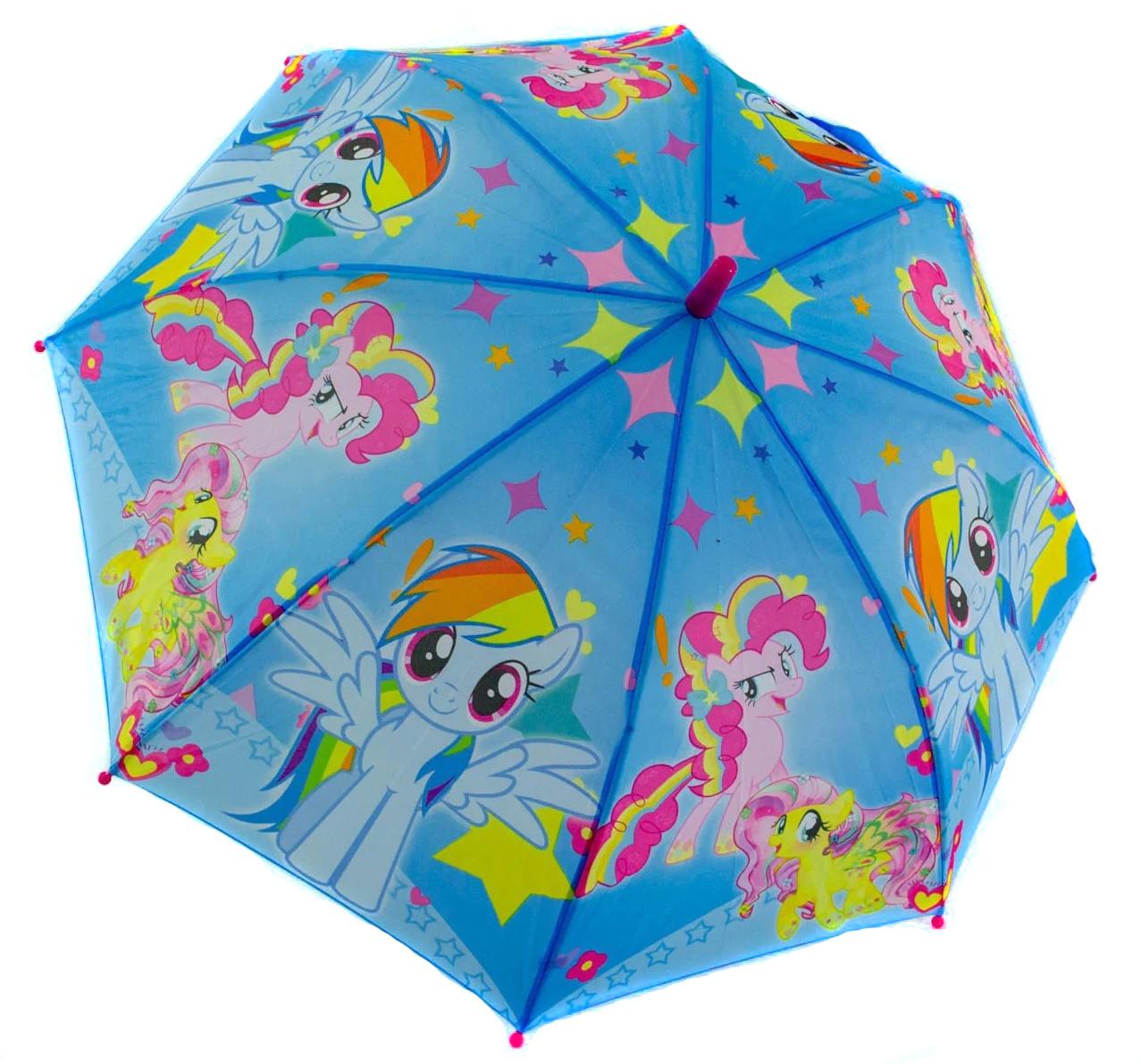 Зонт трость детский для девочек полуавтомат Rainproof рисунком «Май Литл Пони» на 5-8 лет (1114086047)