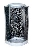 Душевой бокс TKF90 / 1 Черная Паутина BG 90х90х3, тонированное стекло, низкий поддон, А0045223