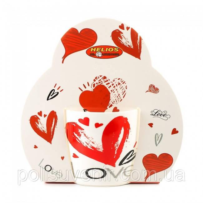 Подарункова Кружка фарфорова Сердце 320 мл