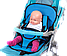 Бескаркасное детское автокресло   кресло для ребенка в машину   детское автомобильное кресло синее, фото 3