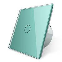 Сенсорный выключатель Livolo зеленый стекло (VL-C701-18)