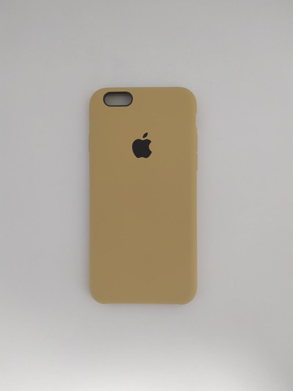 "Чехол Silicon iPhone 6 Plus - ""Золотой №28"""