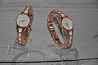 Элегантные женские часы JW, с металлическим ремешком и белым циферблатом